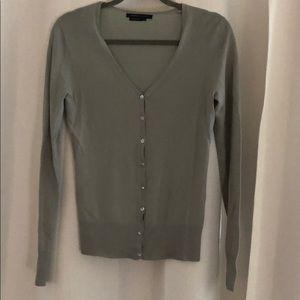 Grey/blue light weave cardigan